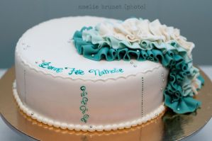 Turquoise ruffles cake 2 by buttercreamfantasies