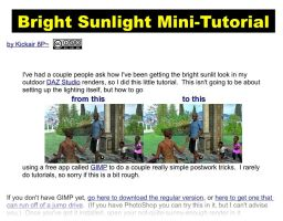 Bright Sunlight Mini-Tutorial by KickAir8P