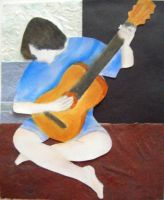 The Old Guitarist Study - Me by HaanaArt