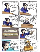 Phoenix Wright comic by oh8