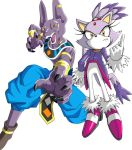 Lord Beerus X Blaze The Cat by CyrilSmith