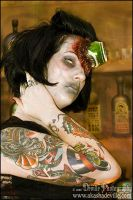 Tattooed Zombie Girl by DevillePhotography