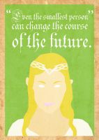 Galadriel Poster by Procastinating
