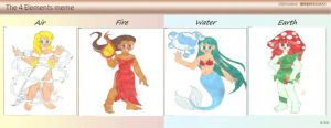The 4 Elements Meme by animequeen20012003