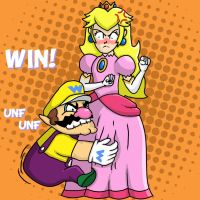 Wario Dry Bones Peach by fretless94