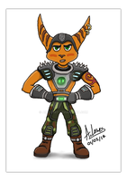 Ratchet and Clank Lombax Character by AimzzArt