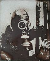 Untitled Gas Mask Enameling by oldmanglo0m