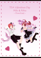 TDA Valentines Day Miki x Ritsu [ DOWNLOAD ] by Aia-Aria