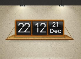 Shelf Clock for XWidget by boyzonet