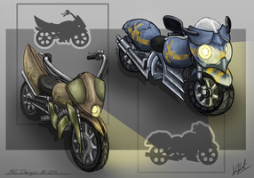 Motorcycle Design by Kritzlof