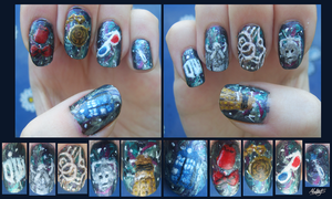 Doctor Who nails by Moonlily5