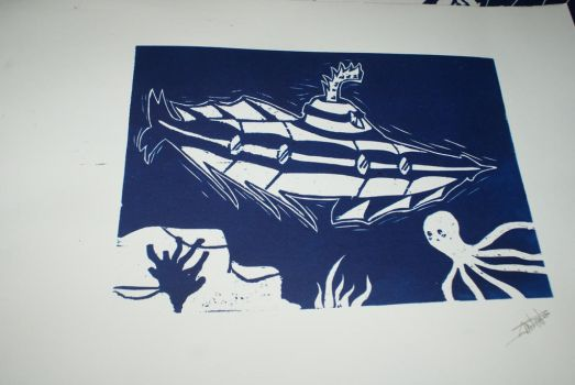 Submarine 1 - On paper by Katsmoka