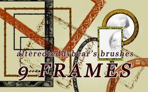 9 frames brushes by alteredteddybear