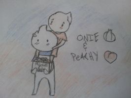 onie and peachy by AkatsukiLovesevery1