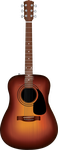 Fender Acoustic Guitar by rozdraws