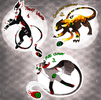 CLOSED - Special Halloween Meyster Adopts ! by LeaTenshi