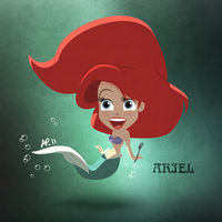 Ariel kawaii by titeufffff