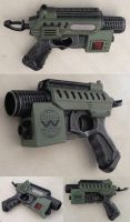Aliens M41B Nerf Pulse Pistol mod Mini Pulse Rifle by GirlyGamerAU