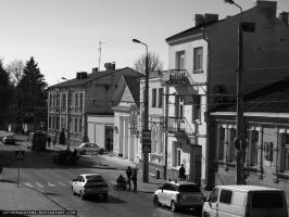 Street in Lutsk (Ukraine) by ArthurGautama