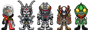 The Five Beast Warrior Beastnoids by YuusukeOnodera