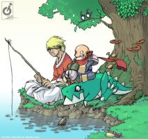 Fishing Coloured by Imson