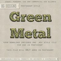 PS Style: Green Metal by HGGraphicDesigns