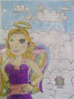 Angel from Lisa Frank by JadeSketch