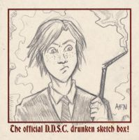 Ron Weasley sketch coaster by Nortedesigns