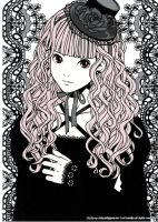 gothic lolita girl by 0-xFAXfanx-0