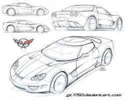 C7 Vette sketches by gt1750