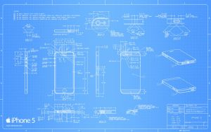 iPhone 5 Blueprint - 2560x1600 by Regivic