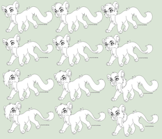 Chibi Feline Lines 2014 by Kainaa