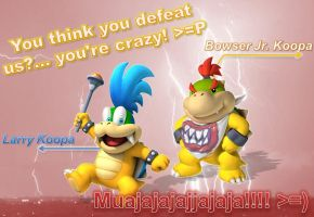 Bowser Jr and Larry Wallpaper by BowserJrOfficial