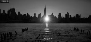 Manhattanhenge (B+W) by wmandra
