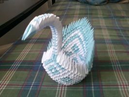 3D Origami Swan Blue/White by SeemsGood