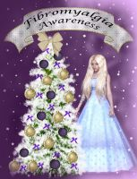 FibroAwareness Christmas Card by marphilhearts