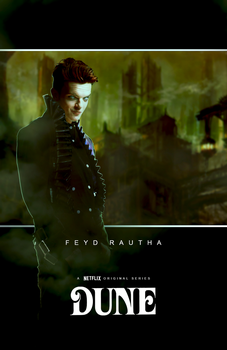 Feyd Rautha ''Dune'' character concept poster by NiteOwl94