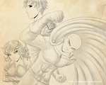 One Punch Man WIP by Xiraus
