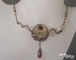 Steampunk necklace by bodaszilvia