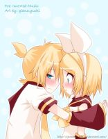 Rin x Len - Art Trade by giannysuki