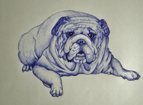 Dog ballpoint pen by DrawingNynke