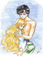 Usagi and Mamoru by SelenaSeleria