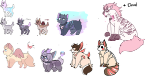 Mixed Adoptables  Set price Open - still open by werewolf-png