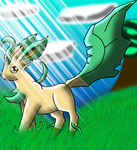 Shiny Leafeon-Photosynthesis by DragonessBlue