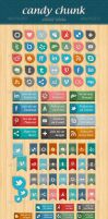 Candy Chunk - Social Network Icons by gojol23