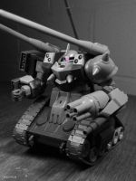 Super Custom Zaku Tank F2000 - W.I.P. by xIGetUm