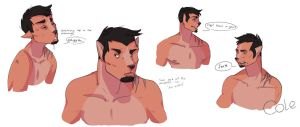 Cole : Concept art by leafaye