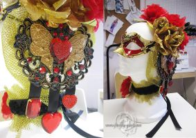 Valentine mask and hair accessories by Lillyxandra