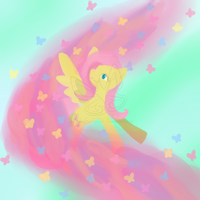 Fluttershy and butterflies by TheEpicFailure