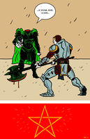 Gawain and the Green Knight by erspears